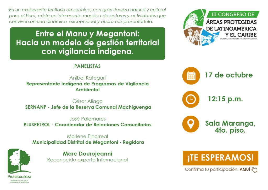 Entre el Manu y Megantoni: Hacia un modelo de gestión territorial con vigilancia indígena